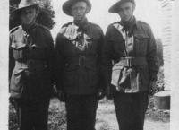 Alan, Robert and Stanley Harper in AIF uniform